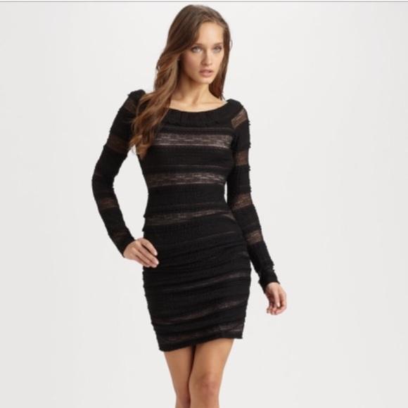 Bcbgmaxazria Dresses Halle Dress Xxs Long Sleeve Black Poshmark